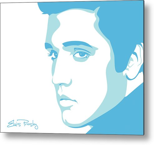 Rock And Roll Metal Print featuring the digital art Elvis by Mike Maher