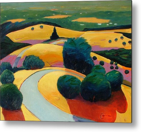 Rolling Hills Metal Print featuring the painting End In Sight by Gary Coleman