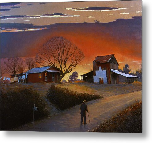 Doug Strickland Metal Print featuring the painting Endurance by Doug Strickland
