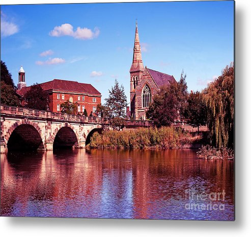 River Metal Print featuring the photograph English Bridge Over The Severn At Shrewsbury by Chris Smith