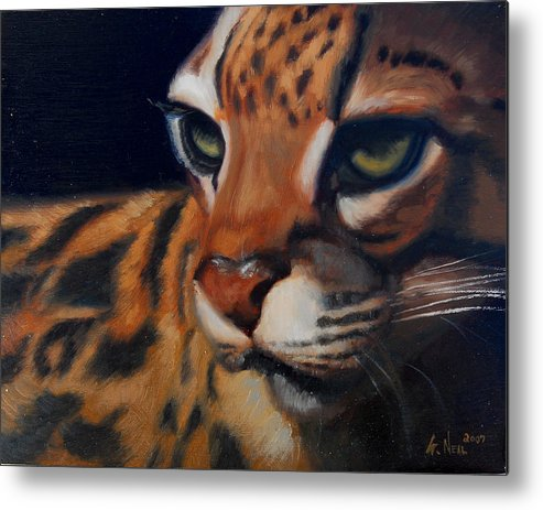 Painting Metal Print featuring the painting Eyes Wide Open by Greg Neal