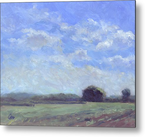 Sky Metal Print featuring the painting Fair And Sunny by Michael Camp