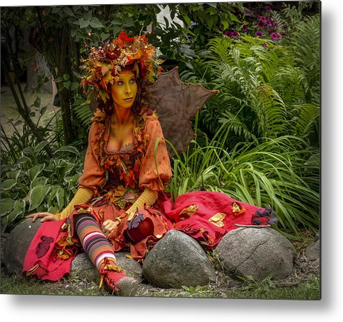 Summer Metal Print featuring the photograph Fairest Fairy At The Faire by Jim Bembinster