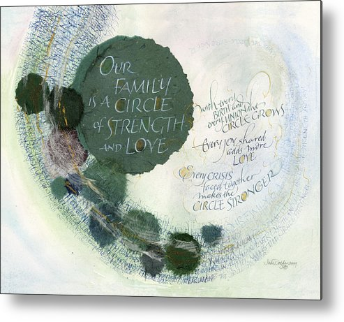 Adoption Metal Print featuring the painting Family Circle by Judy Dodds