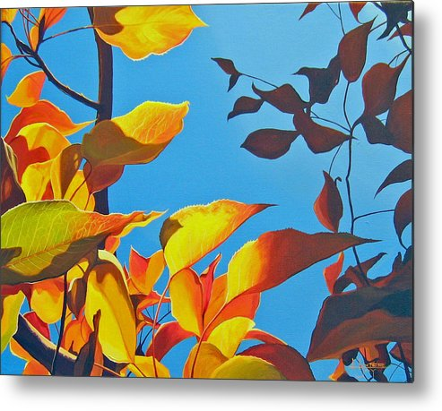 Fall Metal Print featuring the painting Farewell To Summer by Hunter Jay