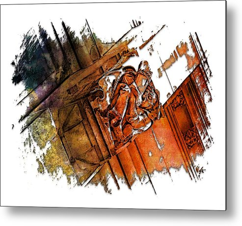 Architecture Metal Print featuring the photograph Fear Earthy Rainbow 3 Dimensional by Di Designs
