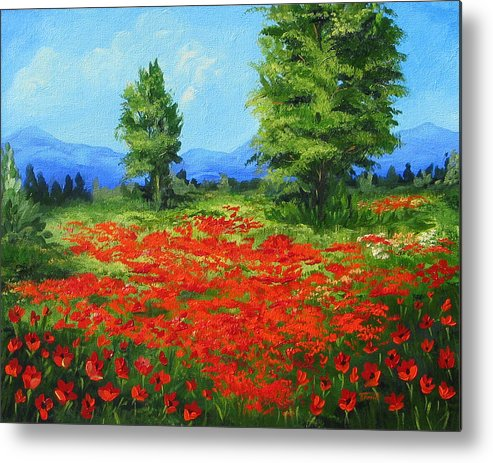 Poppy Field Metal Print featuring the painting Field Of Poppies IIi by Torrie Smiley