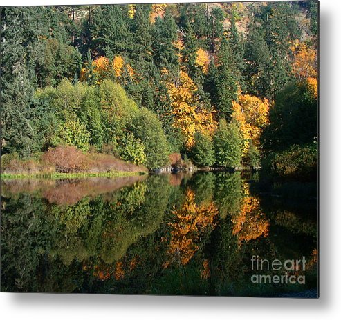 Fall Metal Print featuring the photograph Final Reflection by Larry Keahey