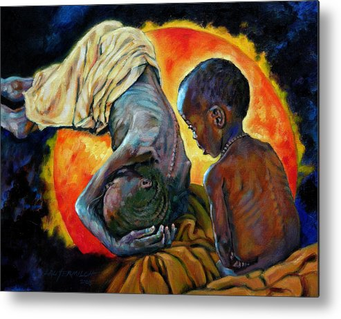 Starvation Metal Print featuring the painting First Corinthians 1-25 by John Lautermilch