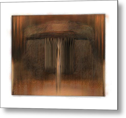 Abstract Metal Print featuring the digital art First Up Best Dressed by Nuff