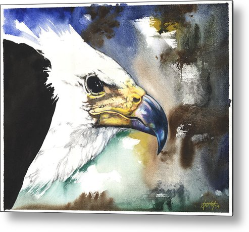 Fish Metal Print featuring the mixed media Fish Eagle II by Anthony Burks Sr