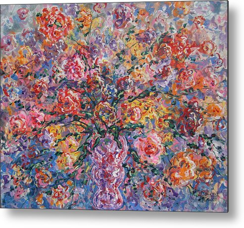 Painting Metal Print featuring the painting Floral Melody by Leonard Holland