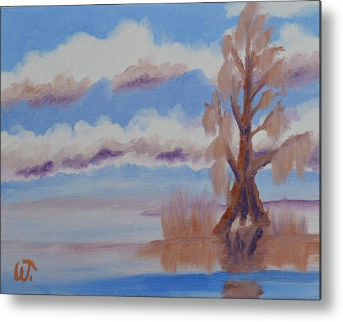 Florida Cypress Metal Print featuring the painting Florida Cypress by Warren Thompson