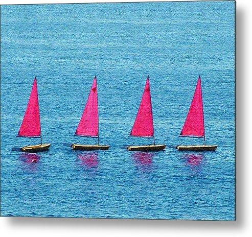 Sailing Boats Spain Metal Print featuring the photograph Flotilla by John Bradburn