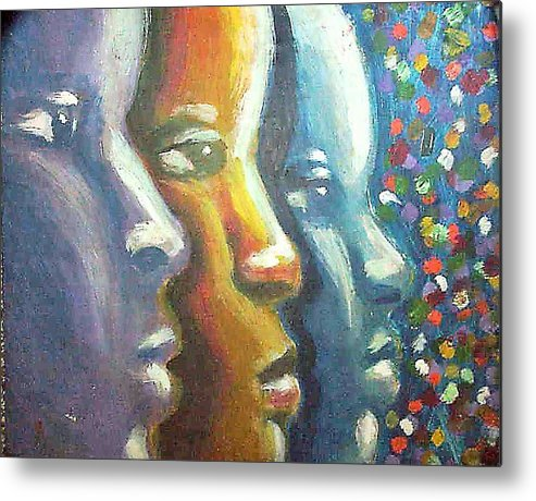 Color Metal Print featuring the painting Focus by Jan Gilmore