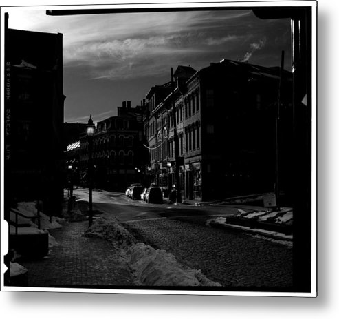 Black And White Metal Print featuring the photograph Fore Street by Filipe N Marques
