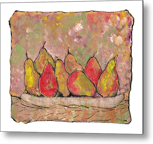 Pears Metal Print featuring the painting Four Pair Of Pears by Wayne Potrafka