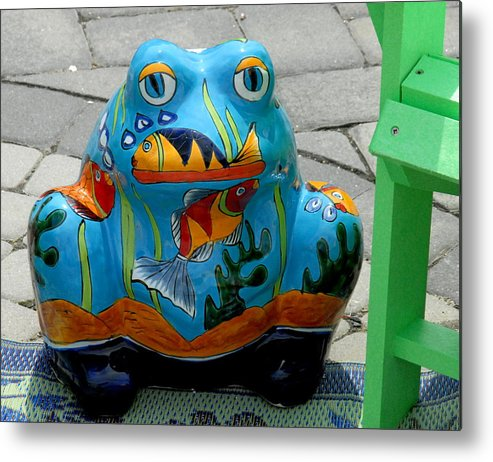 Colorful Garden Ornaments Metal Print featuring the photograph Garden 20 by Joyce StJames