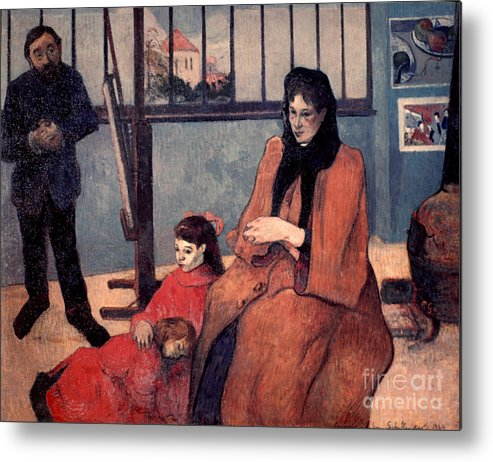 1889 Metal Print featuring the photograph Gaugin: Family, 1889 by Granger