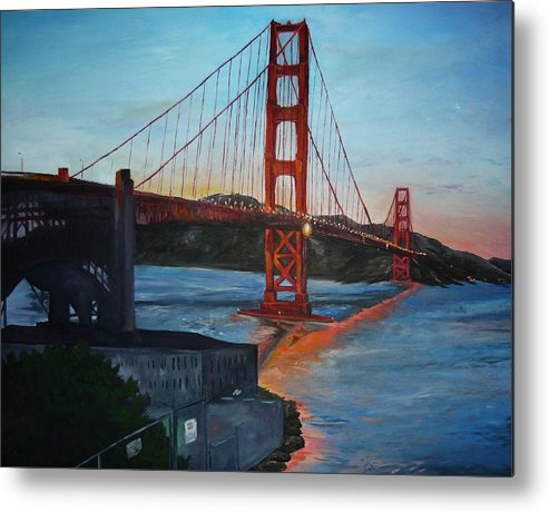 San Francisco Metal Print featuring the painting Golden Gate by Travis Day