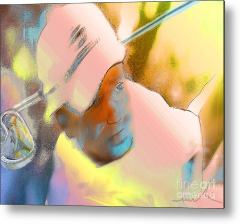 Golf Metal Print featuring the painting Golf Dream by Miki De Goodaboom