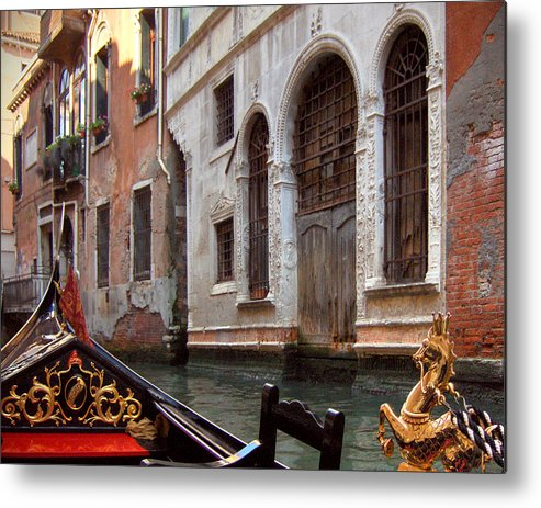 Gondola Metal Print featuring the photograph Gondola by Julie Geiss