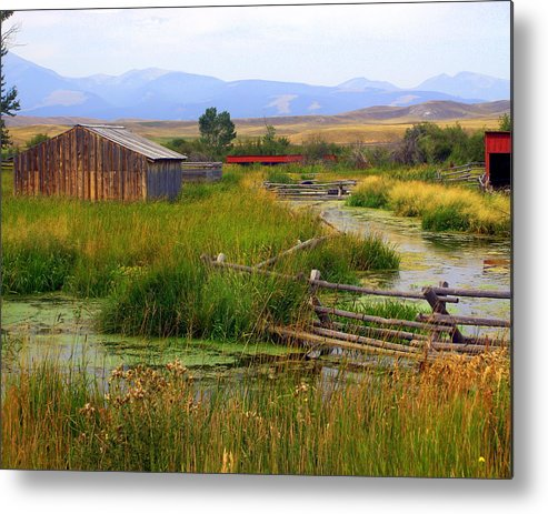 Ranch Metal Print featuring the photograph Grant Khors Ranch Deer Lodge Mt by Marty Koch
