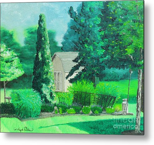 Landscape Metal Print featuring the painting Green And Growing by Joseph Palotas