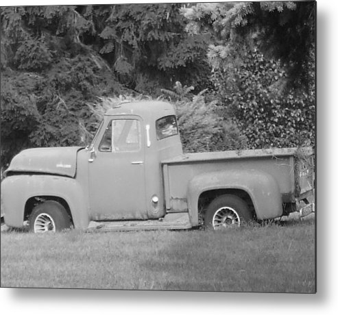 Truck Metal Print featuring the photograph Grounded Pickup by Pharris Art