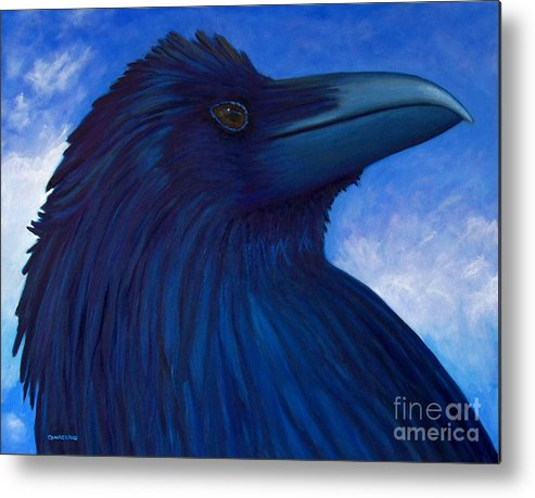 Raven Metal Print featuring the painting Heaven Bound by Brian Commerford