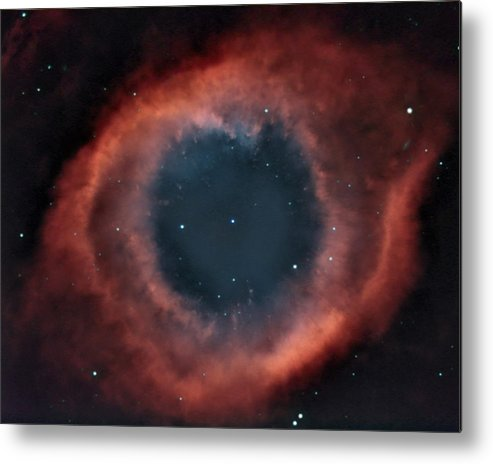 Helix Metal Print featuring the photograph Helix Nebula by Charles Warren