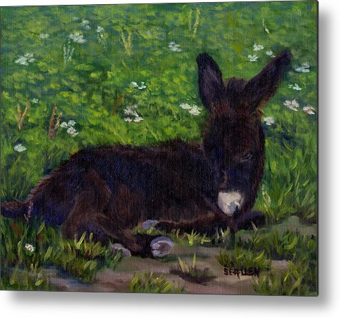 Donkey Metal Print featuring the painting Hercules by Sharon E Allen