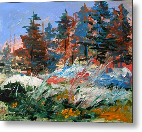 Snow Metal Print featuring the painting Hidden Snow by John Williams