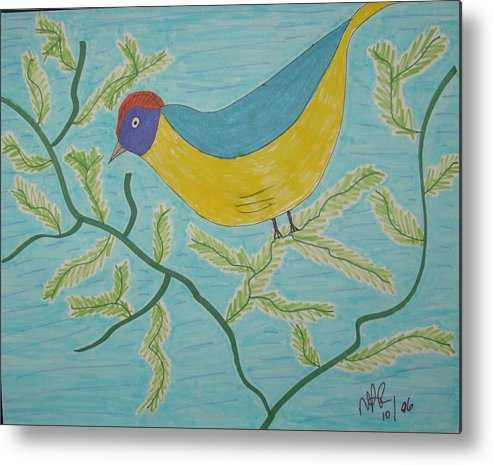 Birds Metal Print featuring the drawing High Tail by Nicholas A Roes