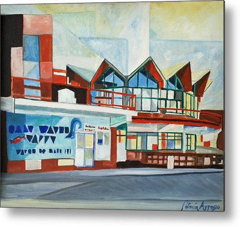 Asbury Art Metal Print featuring the painting Hojo's Abstracted by Patricia Arroyo