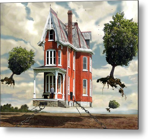 Surreal Metal Print featuring the digital art Holding On by Evelynn Eighmey