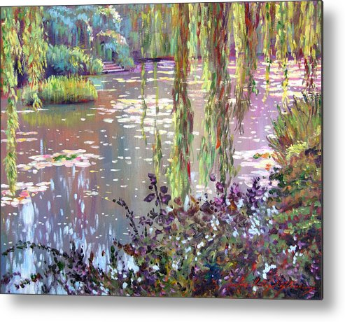 Impressionism Metal Print featuring the painting Homage To Monet by David Lloyd Glover