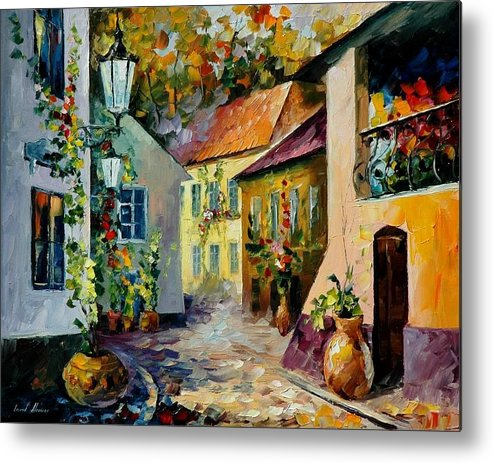 Landscape Metal Print featuring the painting Hot Noon Original Oil Painting by Leonid Afremov
