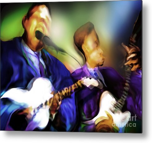 Jazz Art Metal Print featuring the painting Howl'n by Mike Massengale
