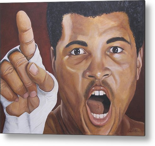 The Greatest Metal Print featuring the painting I Am The Greatest 2 by Kenneth Kelsoe