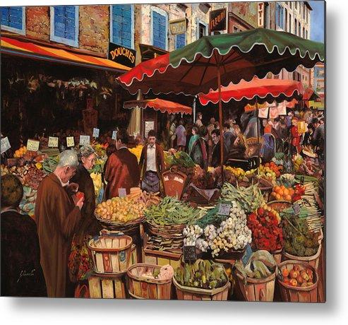 Market Metal Print featuring the painting Il Mercato Di Quartiere by Guido Borelli