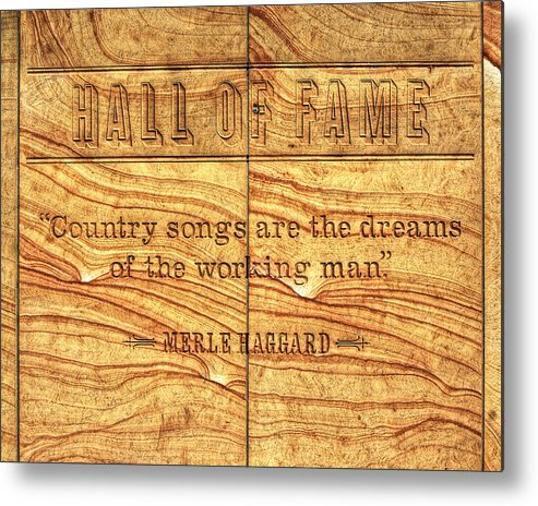 Hall Of Fame Metal Print featuring the photograph In The Words Of The Immortal... by Darin Williams