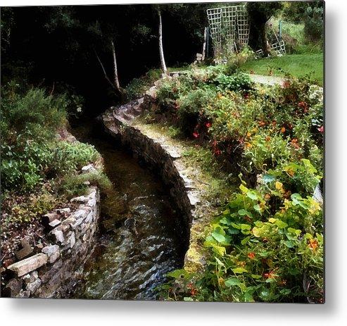 Ireland Metal Print featuring the photograph Irish Garden Stream by Joe Bonita