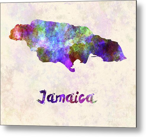 Jamaica Metal Print featuring the painting Jamaica In Watercolor by Pablo Romero
