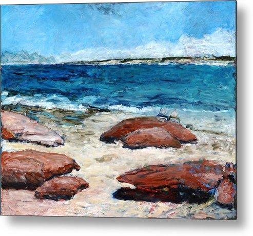 Seascape Metal Print featuring the painting Kalbarri Beach by Joan De Bot