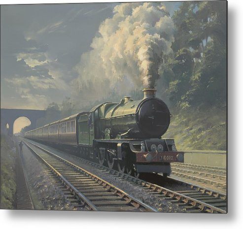 Steam Metal Print featuring the painting King Edward Vi by Richard Picton