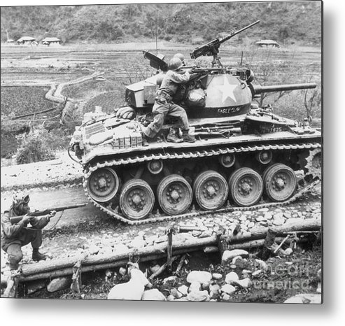 1951 Metal Print featuring the photograph Korean War, 1951 by Granger