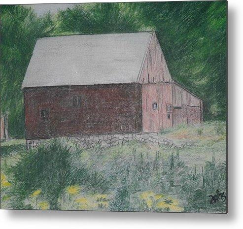 Barn Metal Print featuring the painting Krashes Barn by Debra Sandstrom