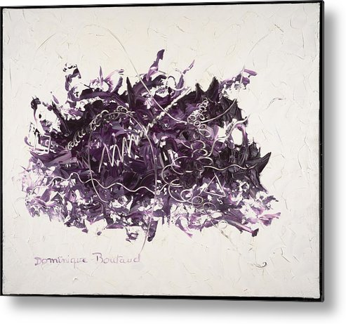 Abstract Metal Print featuring the painting La Solitude by Dominique Boutaud