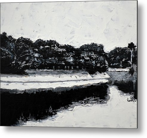 Lal Bagh Lake Metal Print featuring the painting Lal Bagh Lake 4 by Usha Shantharam